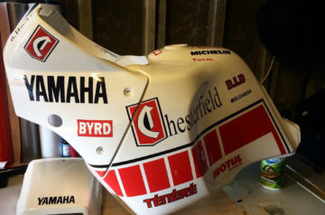 XT600z Tank and Fairing with Chesterfield BYRD decals